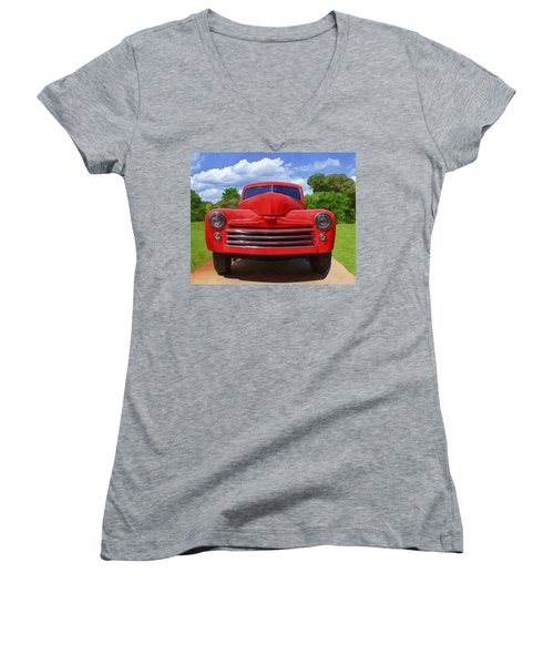 1947 Ford Women's V-Neck (Athletic Fit)