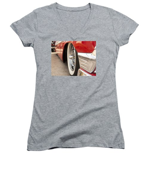 1956 Chevy Custom Women's V-Neck T-Shirt