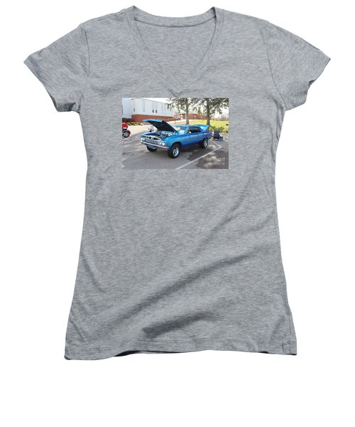 1966 Chevelle Super Sport Women's V-Neck (Athletic Fit)