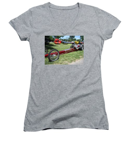 1967 Billy Lynch's Top Fuel Dragster Women's V-Neck T-Shirt
