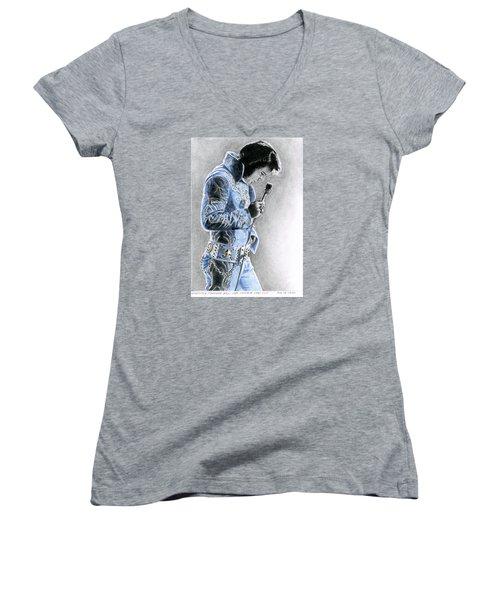 1972 Light Blue Wheat Suit Women's V-Neck T-Shirt