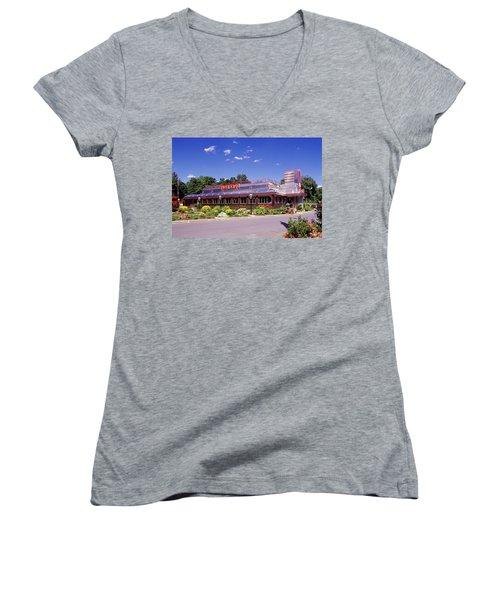 1990s Classic Art Deco Style Diner Hyde Women's V-Neck T-Shirt