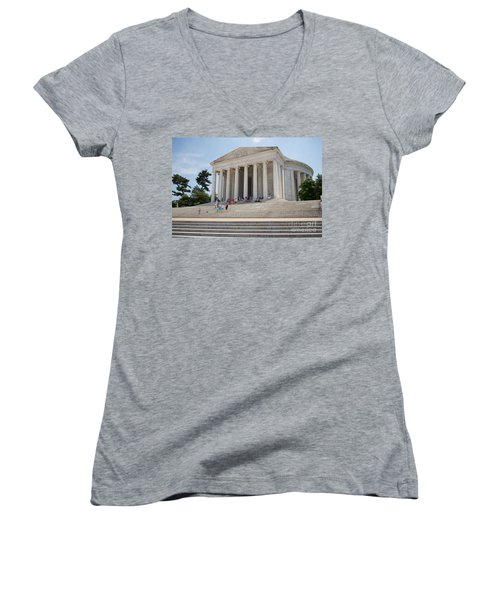 Thomas Jefferson Memorial Women's V-Neck T-Shirt
