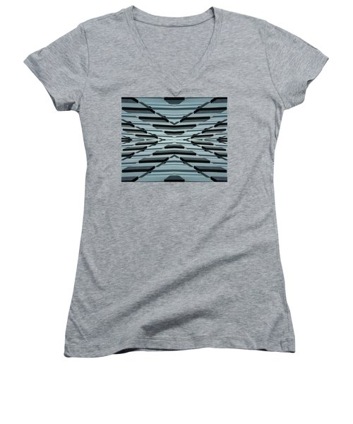 Abstract Buildings 3 Women's V-Neck (Athletic Fit)