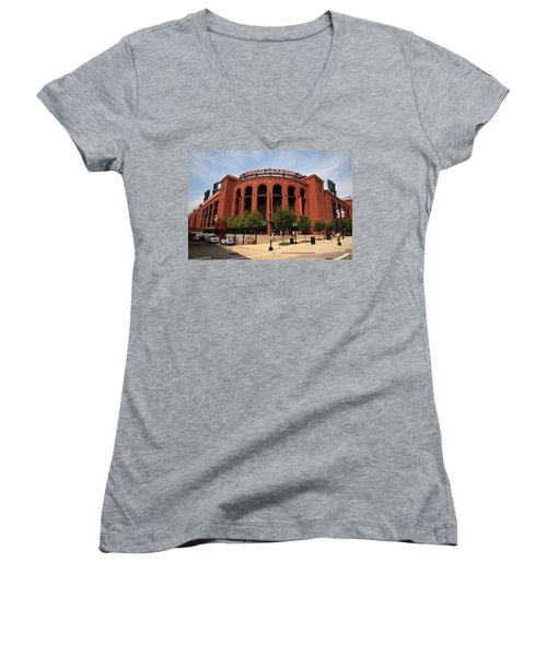 Busch Stadium - St. Louis Cardinals Women's V-Neck T-Shirt