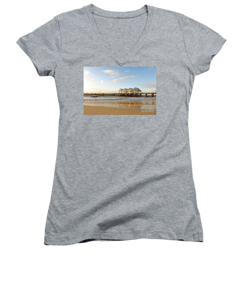 Busselton Jetty Women's V-Neck (Athletic Fit)