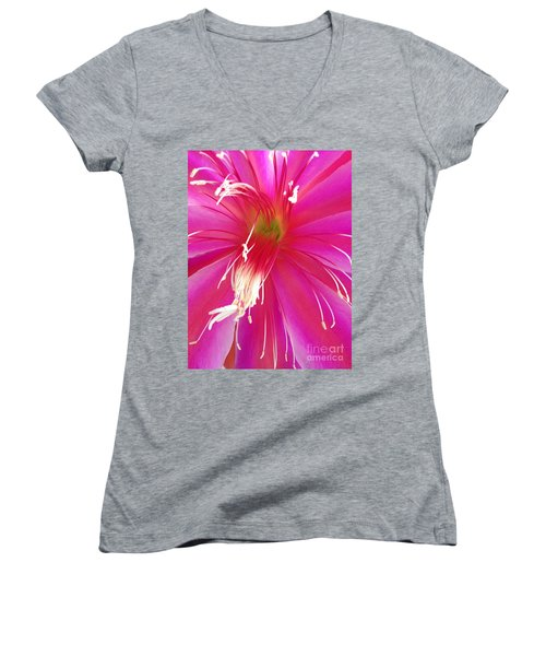Cactus Flower Women's V-Neck T-Shirt