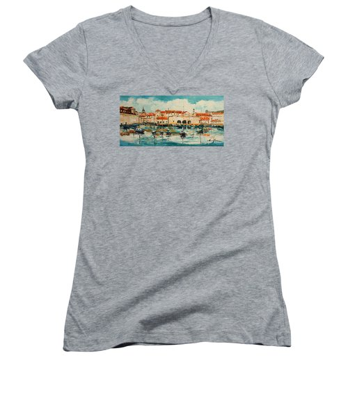 Dubrovnik - Croatia Women's V-Neck (Athletic Fit)