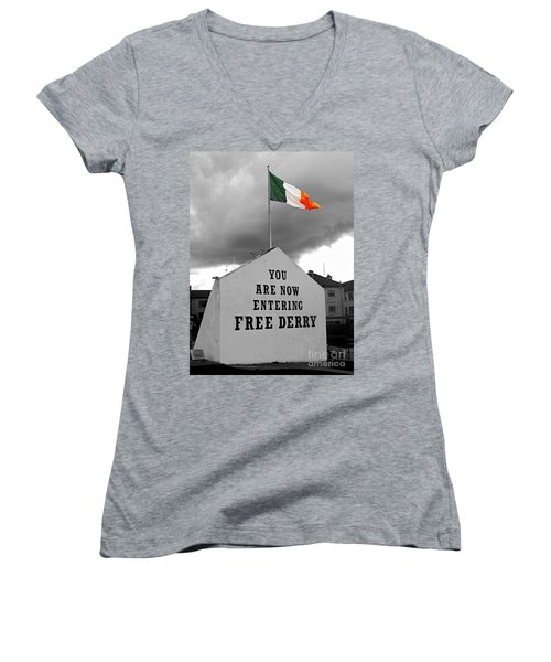 Free Derry Wall 1 Women's V-Neck (Athletic Fit)