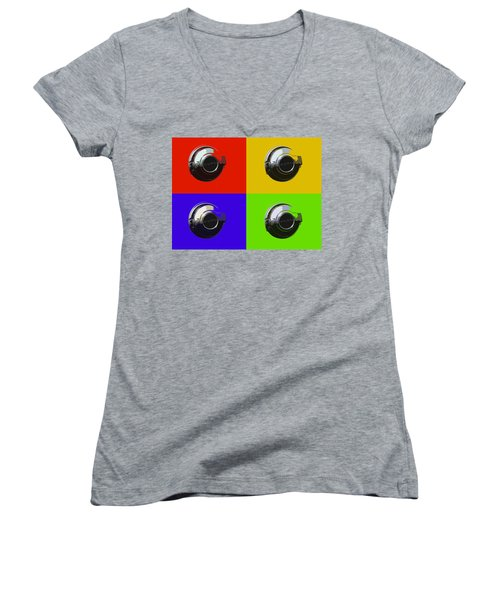 Fuel Cap In Bold Color Women's V-Neck (Athletic Fit)