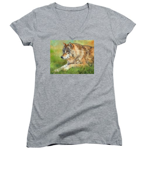 Grey Wolf Women's V-Neck T-Shirt