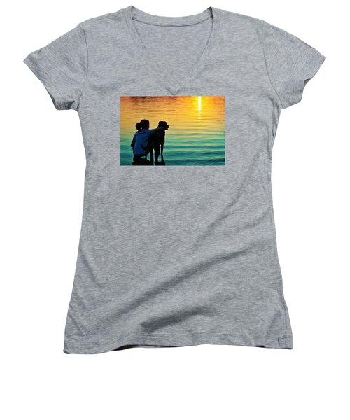 Island Women's V-Neck T-Shirt