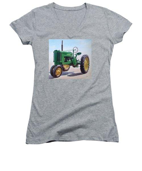 John Deere Tractor Women's V-Neck (Athletic Fit)