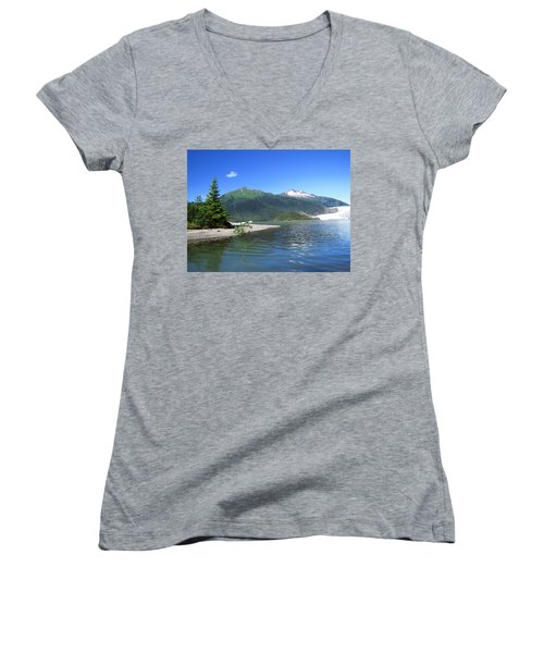 Mendenhall Glacier Women's V-Neck (Athletic Fit)