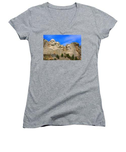 Mount Rushmore South Dakota Women's V-Neck T-Shirt