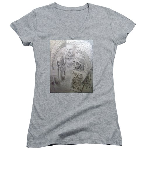 My Foolish Heart Women's V-Neck T-Shirt (Junior Cut) by Rich Milo
