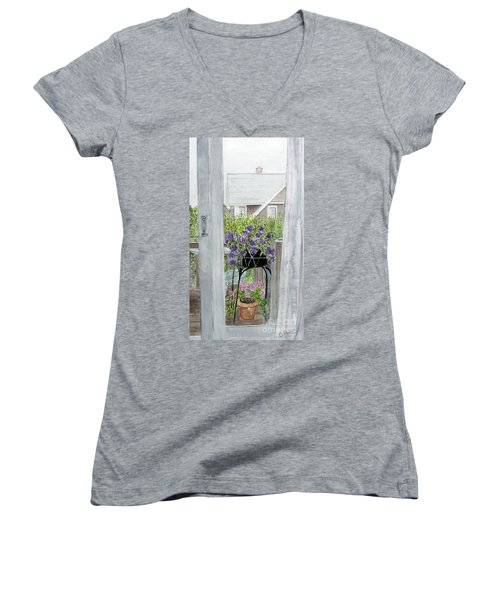 Nantucket Room View Women's V-Neck T-Shirt (Junior Cut)
