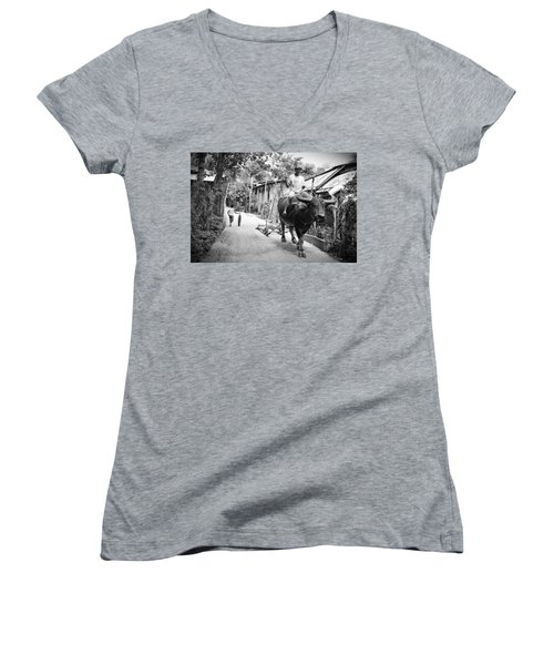 On The Road Women's V-Neck (Athletic Fit)