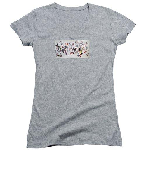 Orpheus Women's V-Neck T-Shirt (Junior Cut) by Robert Nickologianis