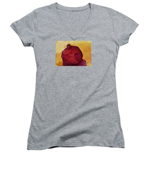 Pomegranate Women's V-Neck T-Shirt