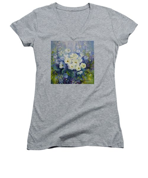 Spring Women's V-Neck T-Shirt (Junior Cut) by Elena Oleniuc