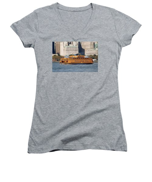 Staten Island Ferry Women's V-Neck (Athletic Fit)