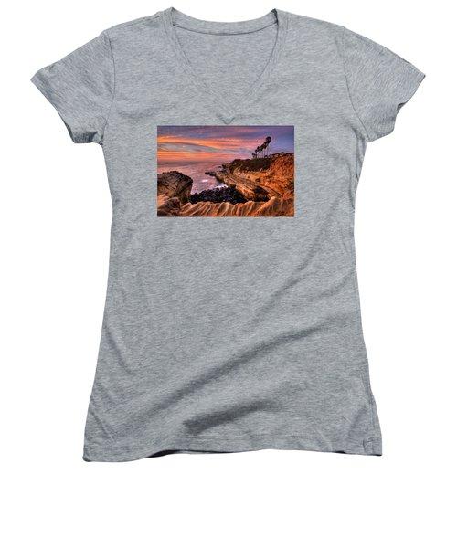 Sunset Cliffs Women's V-Neck