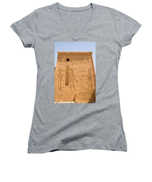 Temple Wall Art Women's V-Neck (Athletic Fit)