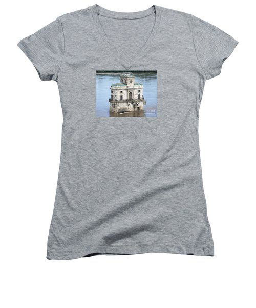 The Old Water House Women's V-Neck T-Shirt (Junior Cut) by Kelly Awad