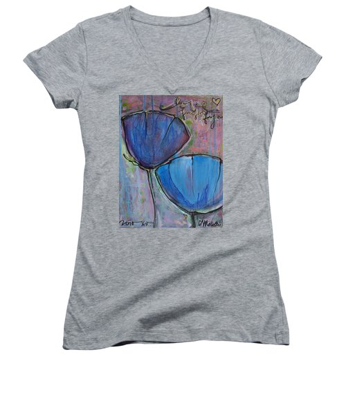 Two Blue Poppies Women's V-Neck