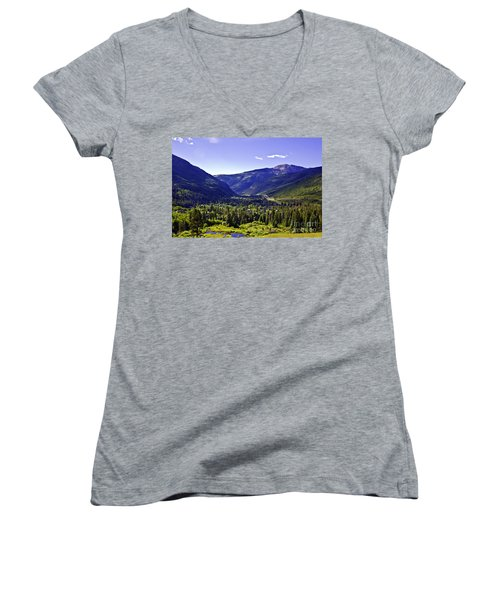 Vail Valley View Women's V-Neck (Athletic Fit)