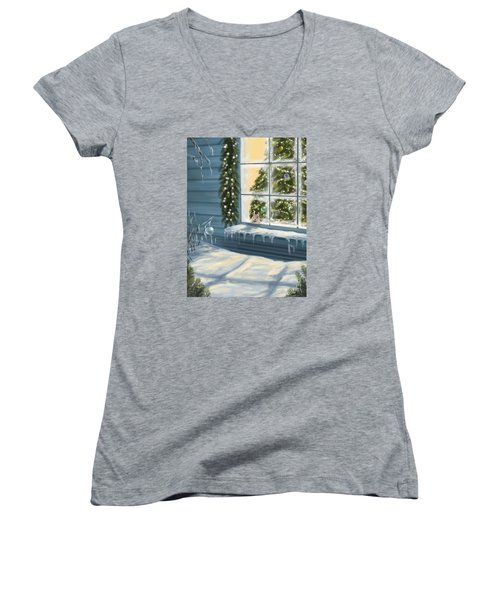 Waiting... Women's V-Neck (Athletic Fit)