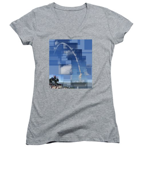 2008 Space Shuttle Launch Women's V-Neck (Athletic Fit)