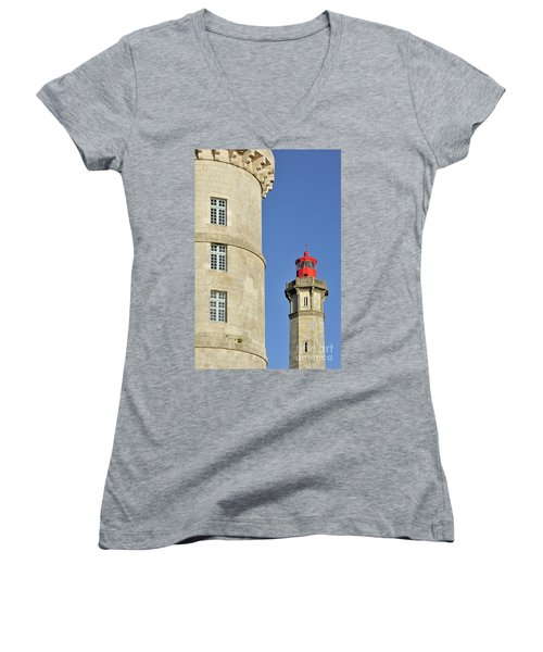 Women's V-Neck T-Shirt (Junior Cut) featuring the photograph 130109p105 by Arterra Picture Library