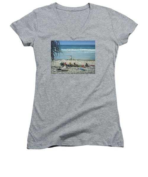 Burleigh Beach 220909 Women's V-Neck