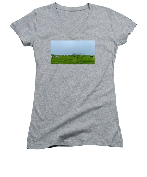 Cows In The Field Women's V-Neck