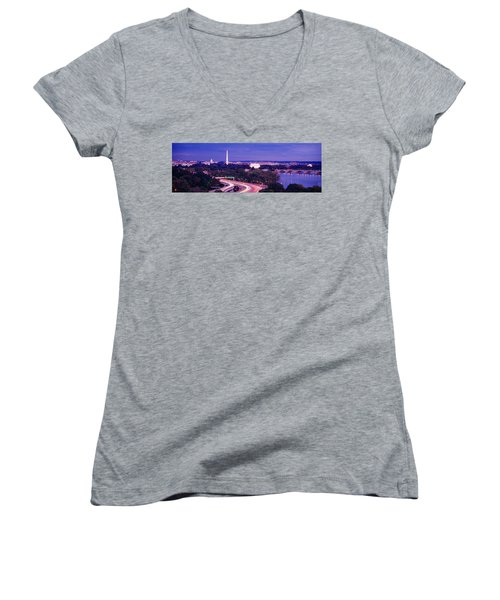High Angle View Of A Cityscape Women's V-Neck T-Shirt