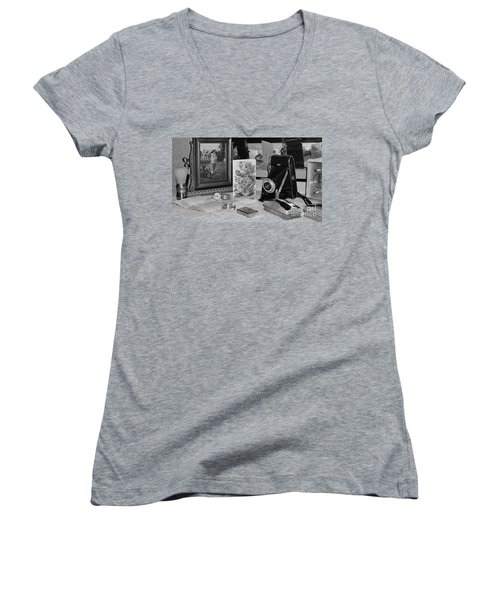 His Women's V-Neck (Athletic Fit)