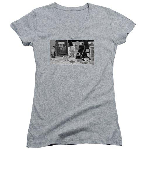His Women's V-Neck T-Shirt