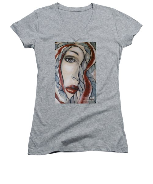 Melancholy 090409 Women's V-Neck