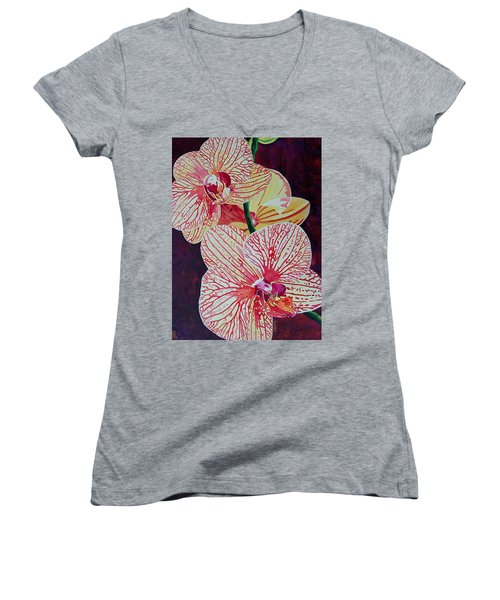 Orchids Women's V-Neck