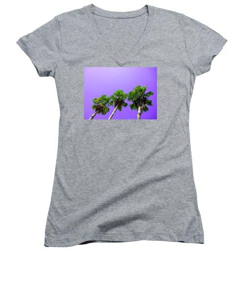 3 Palms Women's V-Neck T-Shirt