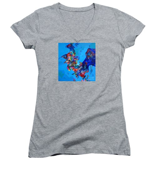 Power Sold Out Women's V-Neck T-Shirt (Junior Cut) by Sanjay Punekar