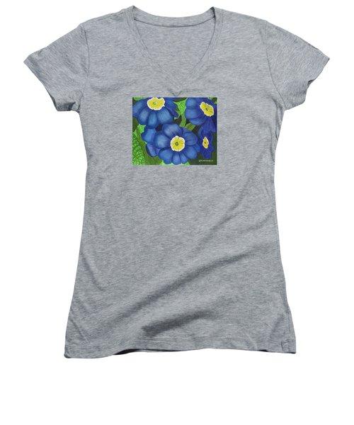 Prim And Proper Women's V-Neck T-Shirt (Junior Cut) by Donna  Manaraze