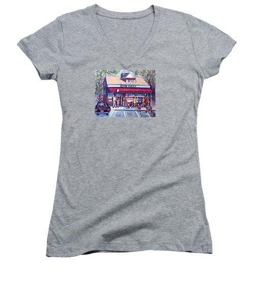 We All Scream For Ice Cream Women's V-Neck T-Shirt (Junior Cut) by Rita Brown