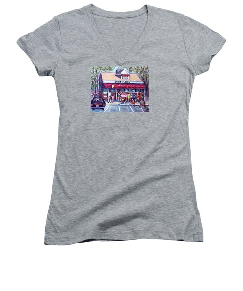 We All Scream For Ice Cream Women's V-Neck (Athletic Fit)
