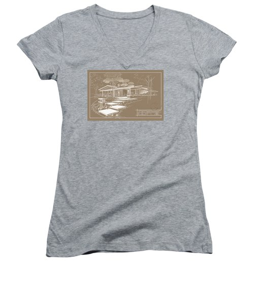301 Cypress Drive - Sepia Women's V-Neck (Athletic Fit)