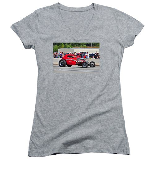 Women's V-Neck T-Shirt (Junior Cut) featuring the photograph 330 Nationals by Mike Martin