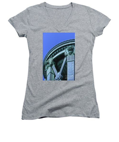 35x11 Perrys Victory Memorial Photo Women's V-Neck