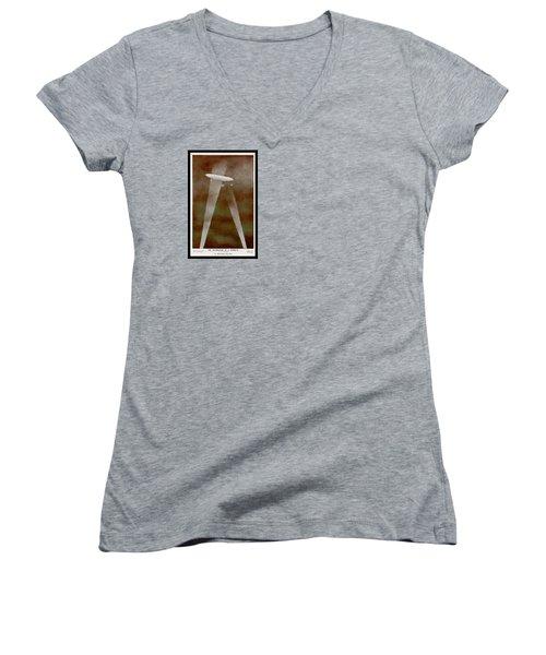 American Beaver Swimming Women's V-Neck T-Shirt (Junior Cut) by Yva Momatiuk John Eastcott